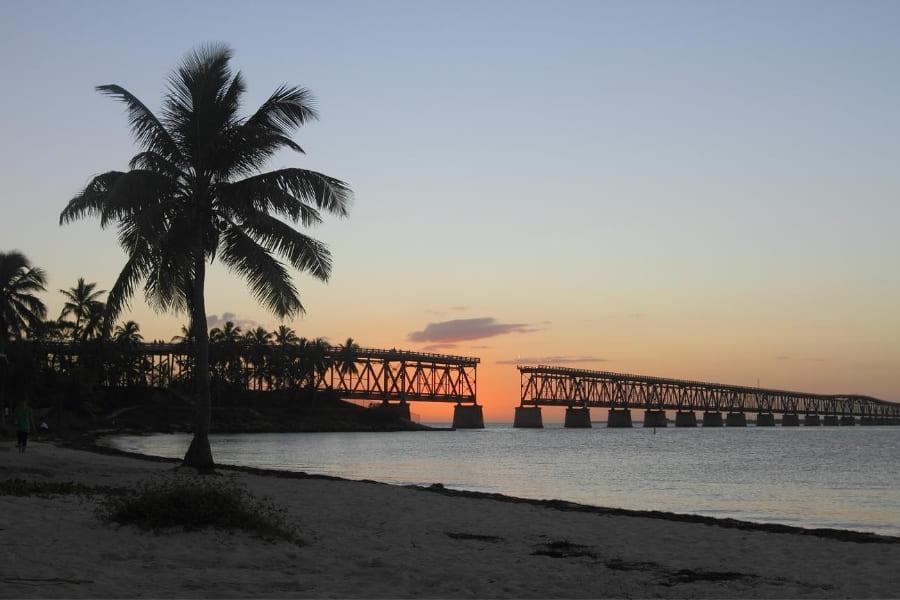 Old bridge of the Bahia Honda State Park Florida