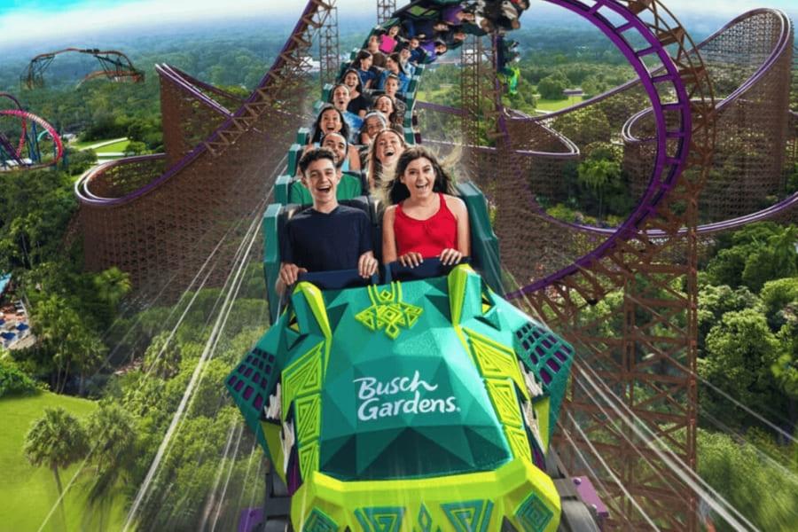 Roller coaster in Busch Gardens Florida