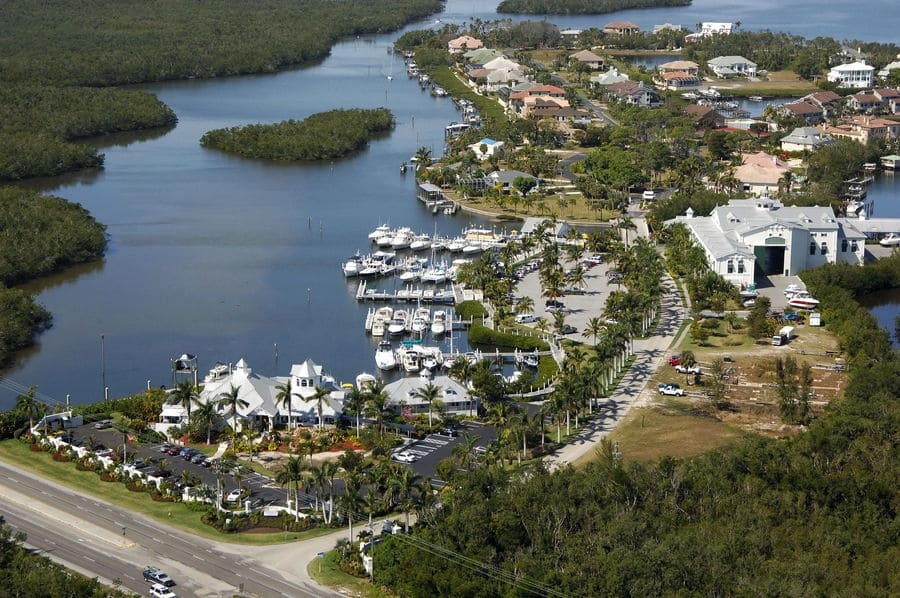 Port Sanibel Marina Port in Fort Myers from above